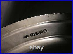 Fine Georgian Regency 1815 Silver Meat Plate 1467 grams Thomas Robins Lion Crest
