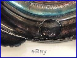 Forbes Silver Pink Ruffled Edge Bride's Basket Silver Plate Bride Basket Vintage