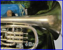 Frank Holton alto horn, altonium Eb brass, silver plate. Outfit. Vintage 1923. /