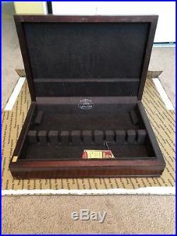 GORHAM Vintage Silverware Flatware Case Chest Mahogany Wood 1938 #403