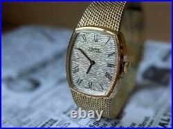 Gents Vintage Montine Roman Numerals Gold Plated Bracelet Watch Working