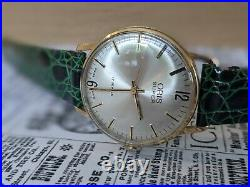 Gents Vintage Oris Super Gold Plated Sunburst Dial 17 Jewel Boxed Watch Working