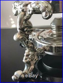 Gorgeous Vintage Silver-plated Sheriden Samovar Urn with Burner Pot and Set