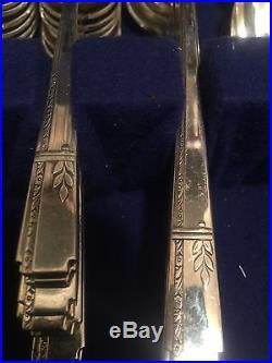 Grenoble Prestige Silver Plate Flatware 97 Pieces Vintage