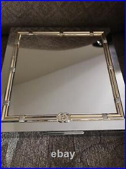 Gucci Vintage Silver Tone & Brass Plated Humidor Cigar Box RARE Collectors Item