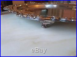 HUGE Vintage TOWLE GRAND DUCHESS 30 Silverplate Footed Tray Chased