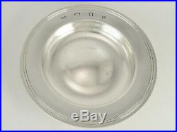 Heavy Vintage Silver Communion Paten Plate 1988 & Edwardian Silver Goblet 1907