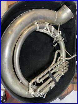 Holton 1960s Sousaphone tuba lower part vintage silver plated