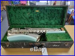 J. W. York Vintage Tenor Saxophone Satin Silver Plate (1930s Model)