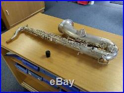 JW York Vintage Tenor Saxophone Matt Silver Plate (1930s Model)
