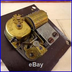 Jewish Menorah Musical Silver Plate Judaica Hanukkah Swiss Reuge Clockwork VTG