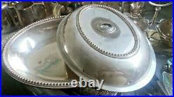 Job Lot Vintage Silver Plated Items -tea Pots Etc Incl Pewter Tankards