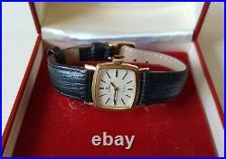 Ladies Vintage 1970 Gold Plated Large Size Manual Winding Omega De Ville + Box