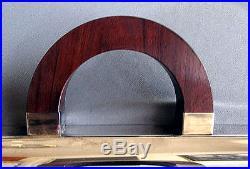 Large VINTAGE Art Deco CHRISTOFLE SILVERPLATE TRAY Wooden Handles PARIS 1930