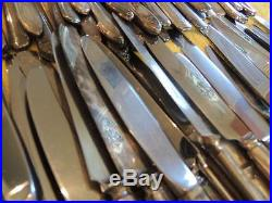 Lot of 120 Silverplate Dinner Knives Vintage CRAFT Flatware Hollow Flat Antique