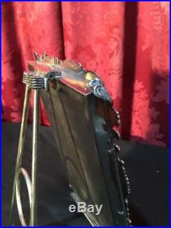 Lovely Vintage Antique Victorian Silver Plate Easel Back Picture Frame
