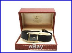 Lovely Vintage Ladies Cartier Must De Cartier 18k Gold Plated Silver Wristwatch