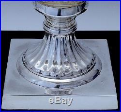 Massive Huge Silver Plate & Finely Cut Glass Handled Presentation Flower Vase