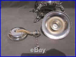 Mint Vintage Large Silver Plate Samovar Hot Water Pot Urn Coffee Pot