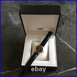 MONTBLANC Meisterstuck 7003 Hand winding Black Gold Plated Stainless 36mm Men's