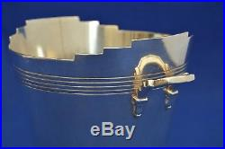 Mappin & Webb Kieth Murray Art Deco Ice Bucket Silver Plate Vintage Cocktail
