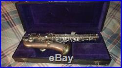 Martin Handcraft Silver Plate Alto Saxophone Vintage serial#36062