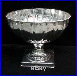 Massive Vintage Silver Plate 14 Punch Bowl With Ladle