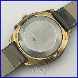 Men USSR Watch World Time RAKETA Cities Antarctic 24 Hour Retro Gold Plated 80s