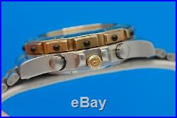 Mens Tag Heuer 3000 2-tone 18K Gold plate & SS Chronograph watch NOS Condition