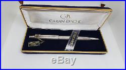 Mint Nos Vintage Caran D'ache Silver Plated Ballpoint Pen Boxed