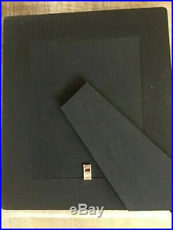 NEW S/2 Ralph Lauren Vintage Leather Picture Frames with Silverplate