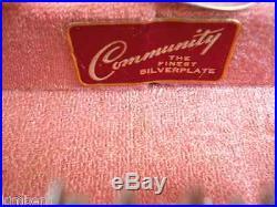 NICE! Community 88 PC Silver Flatware Set includes Original Vintage Footed Case
