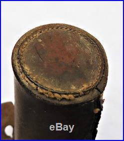 NO RESV Silver Plated HARRODS Captive Top Glass Hunting Flask John Yates Vintage