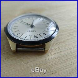 NOS! NEW! Raketa 24 Hours Vintage Watch, Soviet watch, Men watch, gold plated