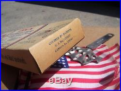 NOS vintage 1920-30s Auto license plate Parade US Flag holder Ford model a t 48