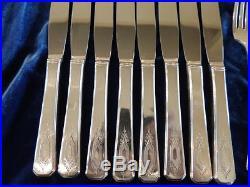 NUART 1932 Silverplate Flatware Set 62 Pieces Wm A Rogers Vintage No Monograms