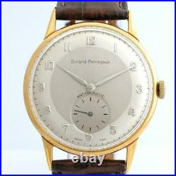 Nice Authentic Girard Perregaux Gold Plated Manual Wind Vintage Gents Watch