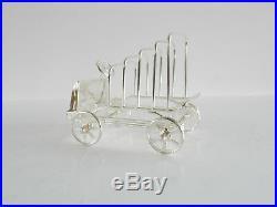 Novelty Silverplated Vintage Motor Car Letter Rack Toast Rack