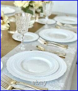 OCCASIONS Vintage Bulk Wedding Party Disposable Plastic Plates & Silverware