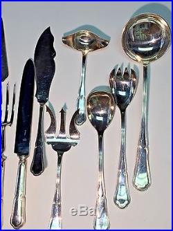 Orfevrerie Saint Medard Paris Vintage French Silver Plate Service For 12 131 Pcs