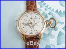 Omega Masonic Gold Plated Case Vintage Swiss mechanical mens Wristwatch Servised