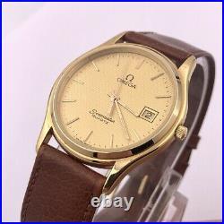 Omega Seamaster Brest 196.0251 Vintage Gold Plated Quartz Watch New Battery