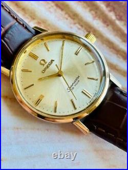 Omega Seamaster De Ville, 1960s Vintage, Gold Plated, Silver Dial, Serviced