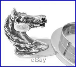 Original Vintage Hermes Paris Pin Tray / Coaster Equestrian Horse Head