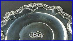 Ornate Patterned Vintage Gorham Sterling Silver Tray Platter Plate #746 15.1 oz