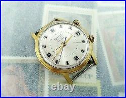 POLJOT Alarm Exacta Signal 1MChZ Soviet Watch 2612.1 Gold Plated Original 1960