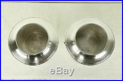 Pair Silverplate English Vintage Champagne Buckets or Wine Coolers #31309