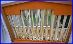 RARE A1 Vintage Viners Rose Garden 6 Place Canteen Silver Plated Cutlery