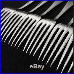 RARE Vintage ERHARDT German Silverplate Flatware W Rostfrei 42pc. Srv for 6