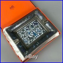 RARE Vintage Hermès Chasse en Inde Cigar Porcelain Ashtray Home Plate Tray Gift